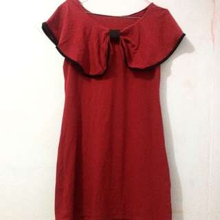 Preloved! Red Dress Sabrina