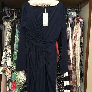 Sheike Long Sleeve Midi Dress