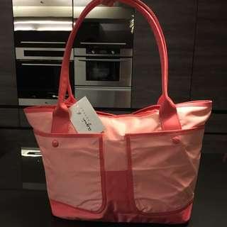 🚚 Agnes'b 粉紅色水餃包