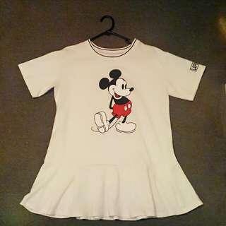 White Mickey Dress