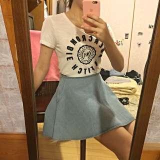 淺藍A字牛仔裙