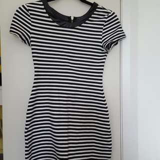 Paint It Red Striped Dress