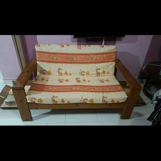 Wooden 2 Seater Chair.