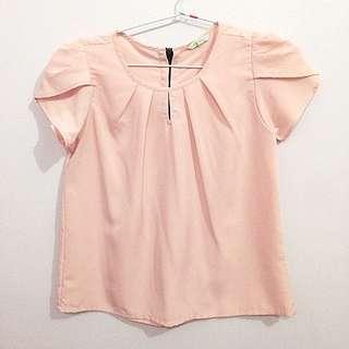 DETAILS Pink Blouse