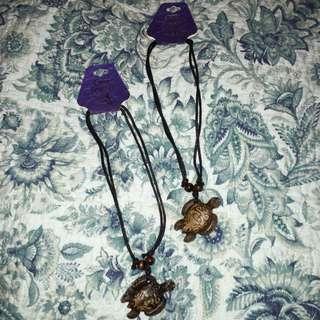 Wooden Turtle Necklaces