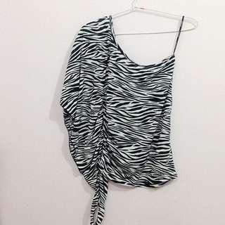 Zebra One Shoulder