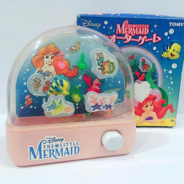 徵求)迪士尼小美人魚愛麗兒水中套圈遊戲機