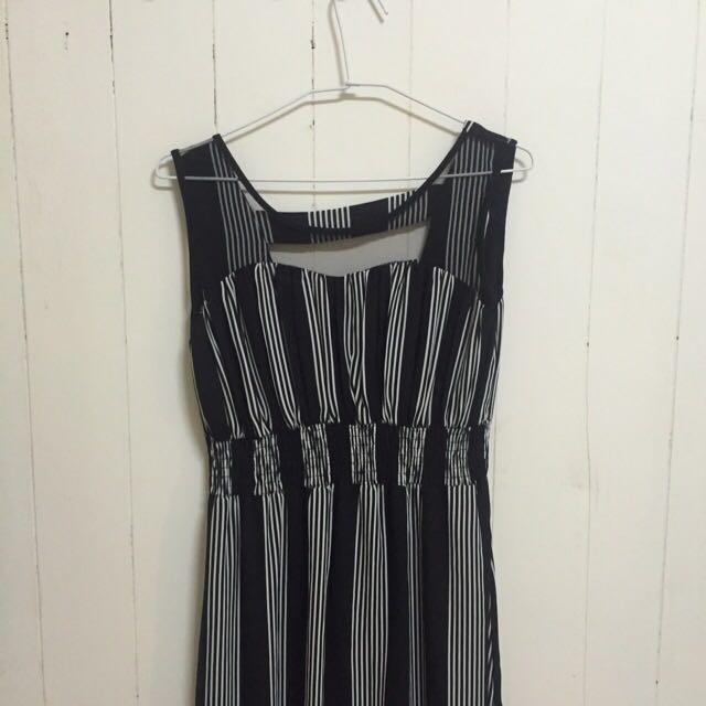 🌿黑白條紋長洋裝