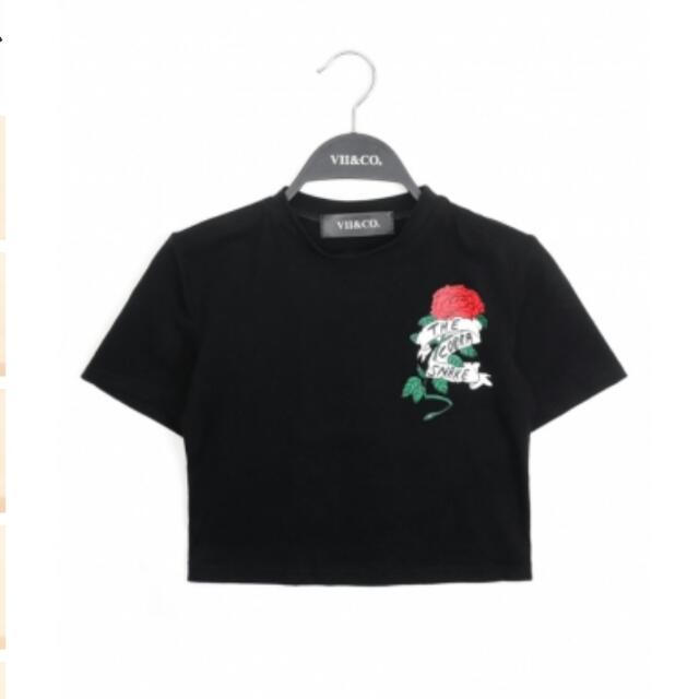 ⚡VII&CO黑色短版上衣(含運)