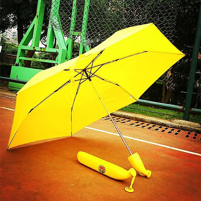 (全新)香蕉雨傘 文青風 梅雨季 可愛療癒小物