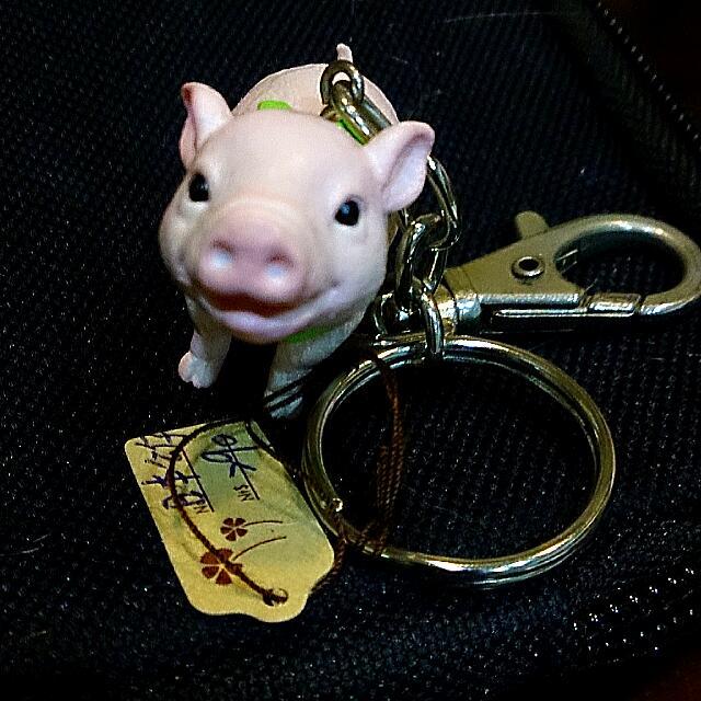 全新 日本 小豬 豬豬 鑰匙圈