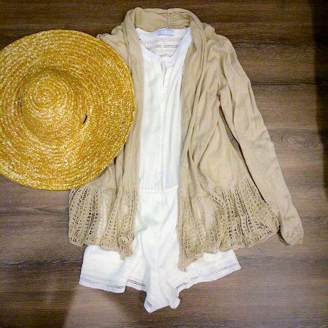 免費贈送)春日常用 駝色 針織 翻領 長板 波浪 軟罩衫