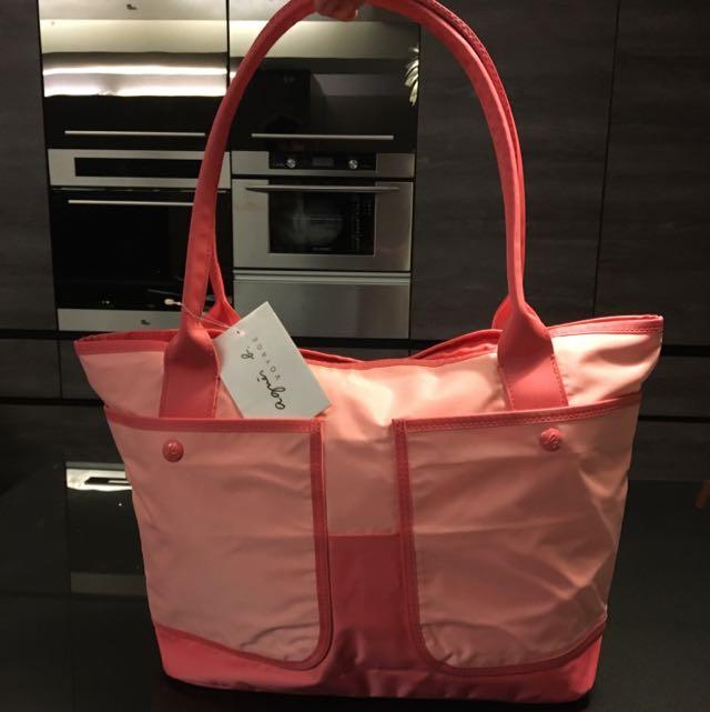 Agnes'b 粉紅色水餃包