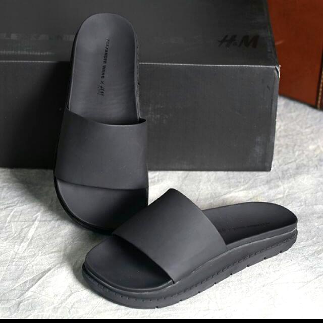Alexander Wang X H&M 聯名款 真皮拖鞋 不撞鞋