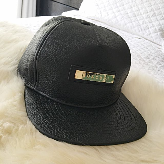 Buscemi Leather Snapback