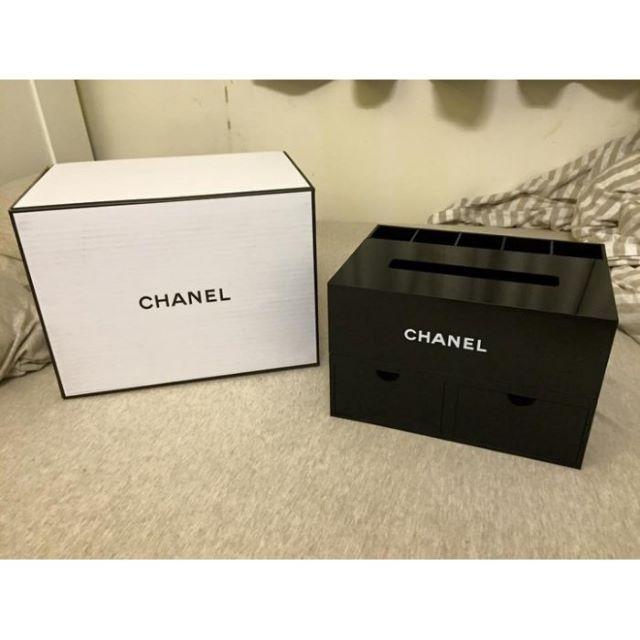 香奈兒Chanel 大容量化妝品收納盒 置物盒多功能首飾盒珠寶盒 (有抽屜櫃+面紙盒+原廠禮盒