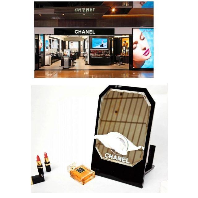 Chanel 香奈兒 正品VIP限量贈品桌鏡 化妝鏡 抽紙盒 面紙盒 禮物附贈原廠禮盒 (特價