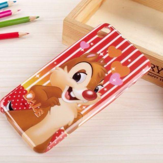 HTC 816 奇奇 蒂蒂 卡通珠光亮粉手機殼