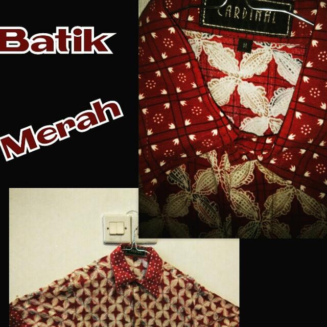 Kemeja Batik Cardinal