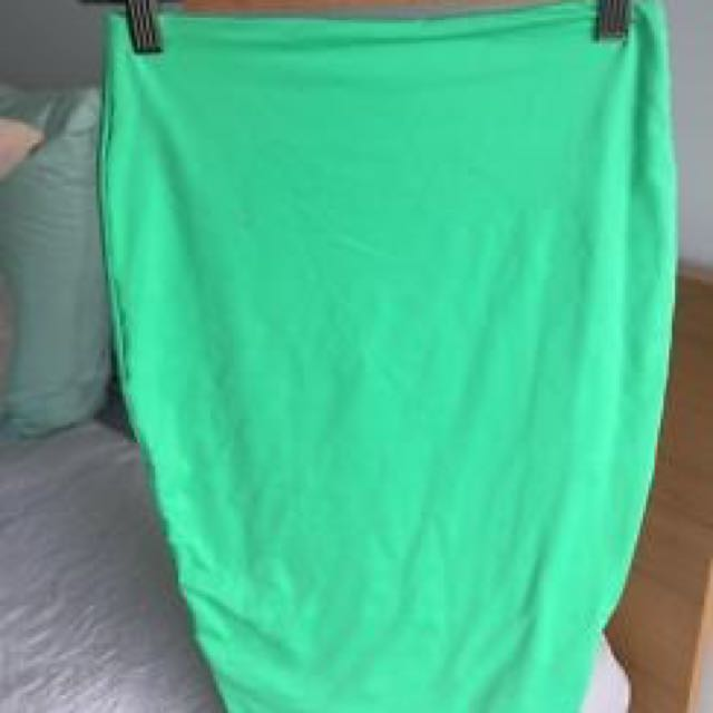 KOOKAI GREEN BODYCON MIDI SKIRT