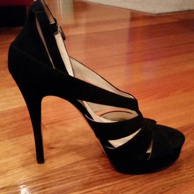 Michael Kors - Leather Suede Heels, Size 10