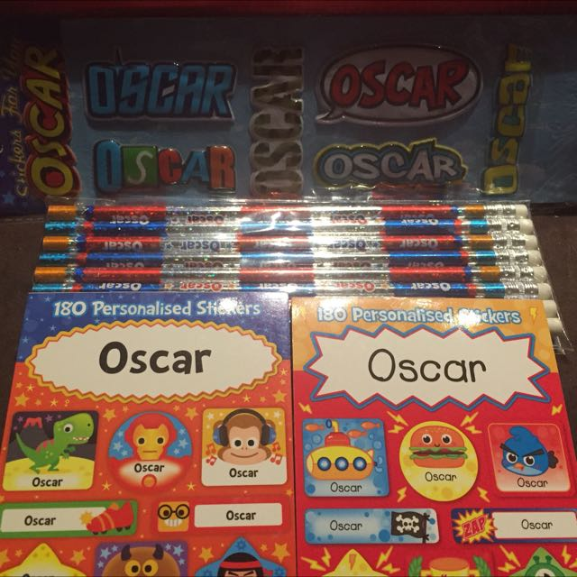 Oscar Stickers And Pencils