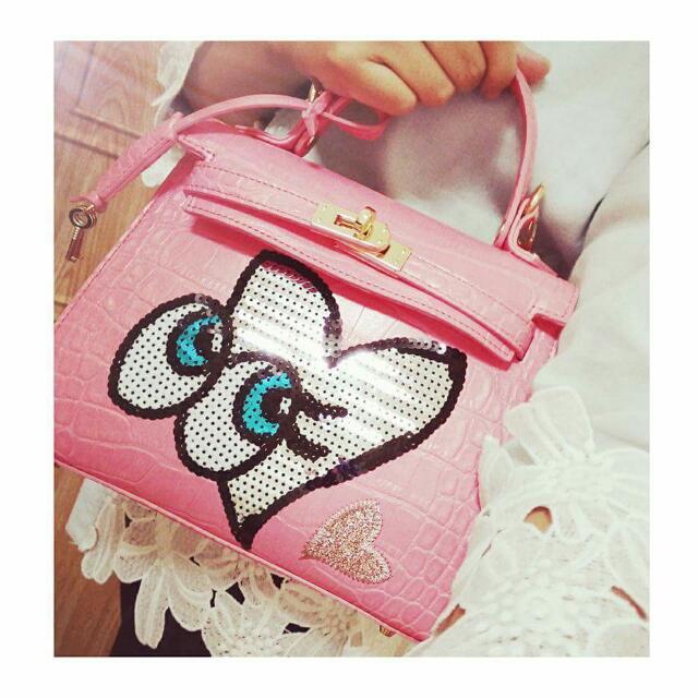Playnomore 粉紅 眼睛包
