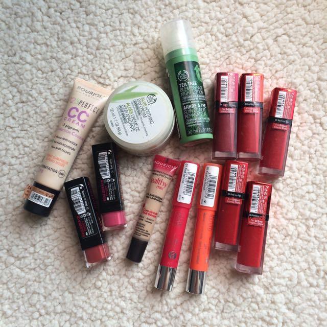 Preloved, 100% Original, Bedak Lipstick Foundation Cream Bourjois The Body Shop