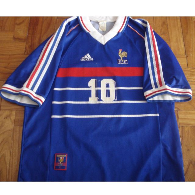 8a48a37eb 2006 adidas france world cup zinedine zidane jersey lon  retro france zidane  jersey authentic adidas 98 00 medium