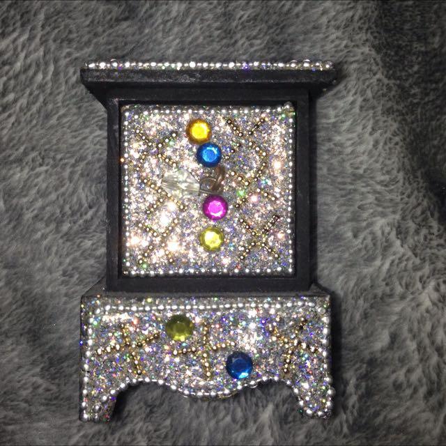 Sequinned Jewellery Box