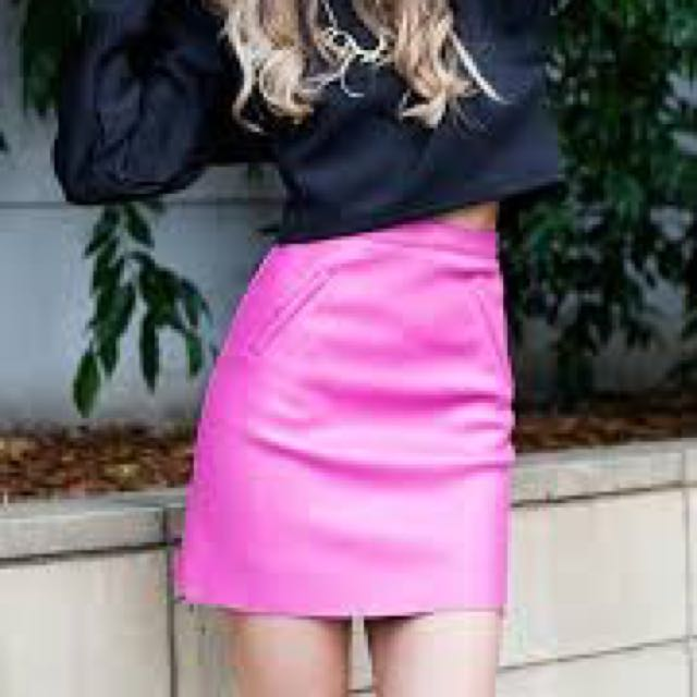 Staple Pink Pleather Skirt