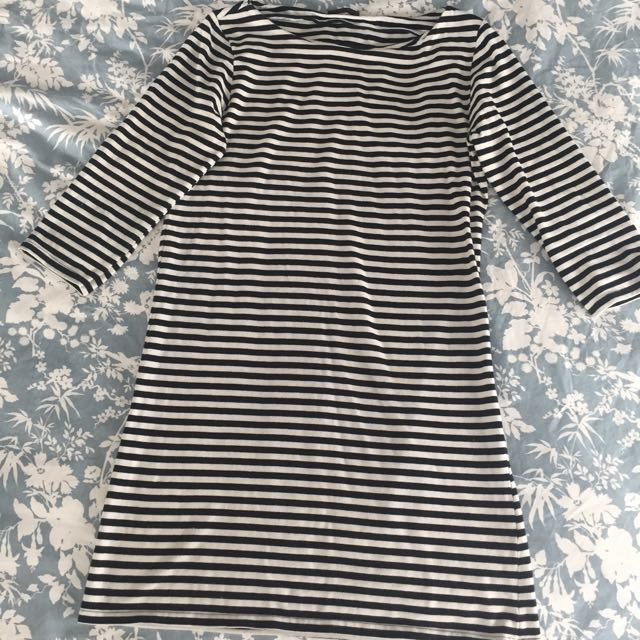 Topshop Stripey Mini Dress Au 12/14