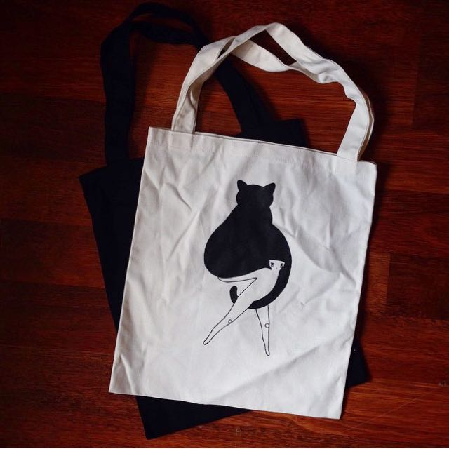 Totebag: cat person