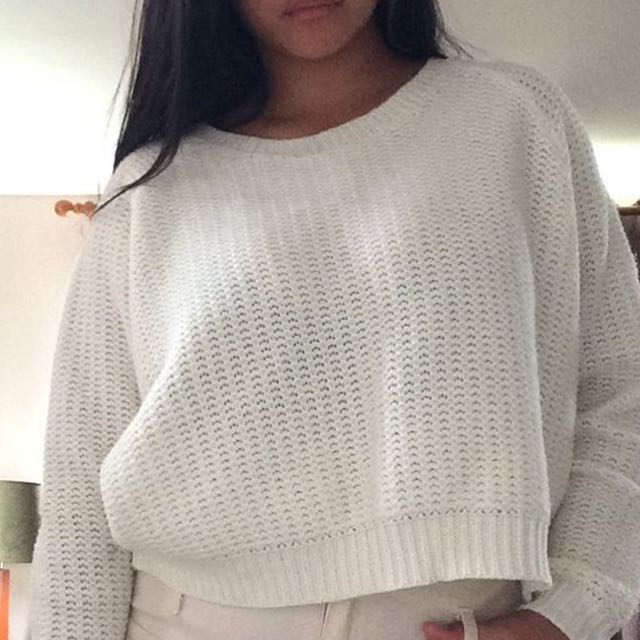 White Wooly Jumper Size 10