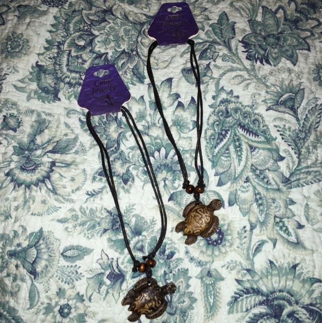 Wooden Turtle Necklaces