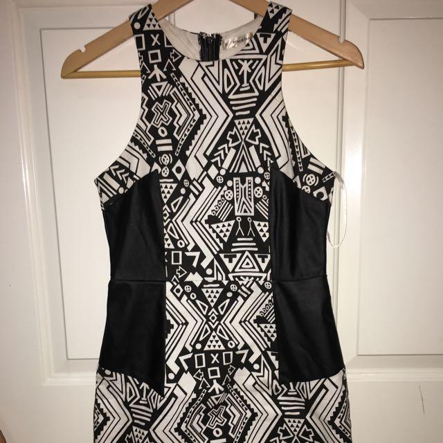 Xenia Boutique Black And White Dress