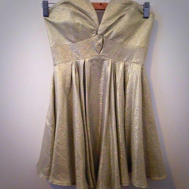 Zimmermann Strapless Gold Twist Dress