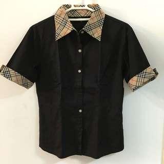 黑色五分袖襯衫 九成新 🇯🇵購於日本🇯🇵