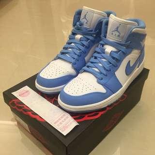 Air Jordan 1 MID retro 北卡藍 喬丹 男鞋