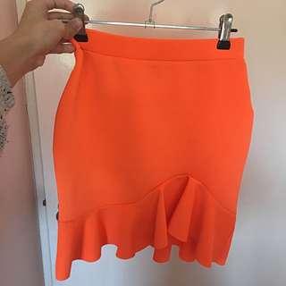 PAINT IT RED Orange mini Skirt