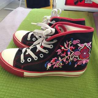 Embroidered High Top Bought In Japan