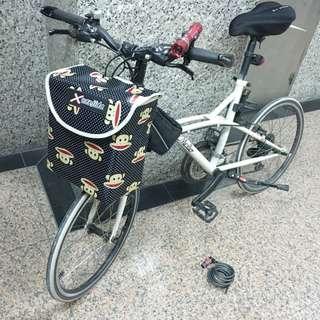 全新💯大嘴猴 方形 單車自行車腳踏車 籃子 防水