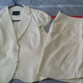 Ivory Corporate Skirt Suit