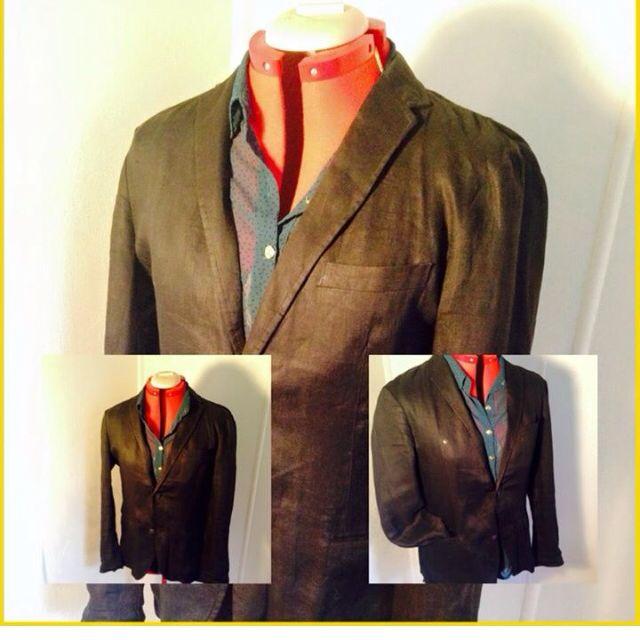 100% French Linen Jacket , Uni Qlo