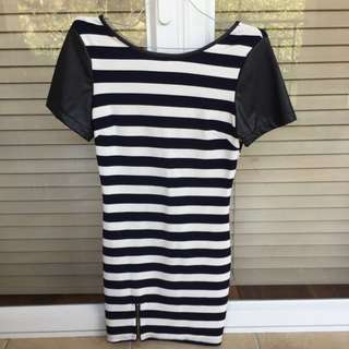 Striped Dress Size Small With Original Tags