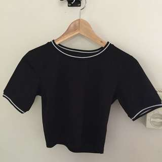 Missguided Black Crop