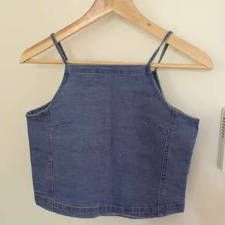 BNWT Denim Crop Top