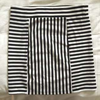 Mink Pink Stripe Tight Skirt
