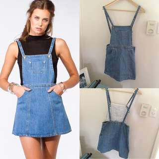 BNWOT Princess Polly Denim Pinafore