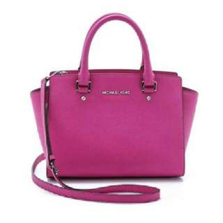 Michael Kors Selma Medium (Fuschia Silver)